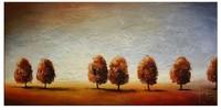 Hand-painted Modern Oil Painting Flower Canvas Landscape Trees Deco Art DP206