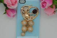 Circle tassel handmade vintage jewelry diy rhinestone for iPhone part beauty phone decoration kit accessories