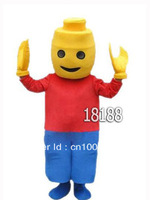 Cheer Building block Mascot Costume For Festival/PARTY Free shipping