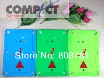 Newest design cute Billiard table shell case for ipad mini silicone soft skin protective cover Free shipping wholesale