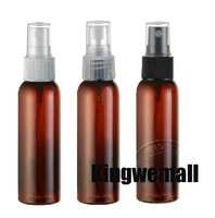Free shipping 300pcs/lot 60ml PET Plastic perfume spray brown bottles