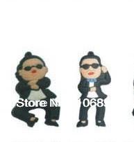 Most popular Cartoon character - PSY Style usb stick-50pcs/lot 1/2/4/8gb usb memory with mini keychain -Mix model+Mix colour(China (Mainland))