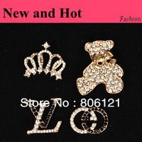 D100105 DIY alloy phone decoration Crown Cute beer 4 pieces per set 2sets per lot  CPAM free Min. Order $10