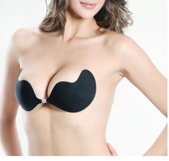 V bra silicone sexy women invisible seamless push up silica gel strapless secret bra enlarge breast free shipping by CHINAPOST(China (Mainland))