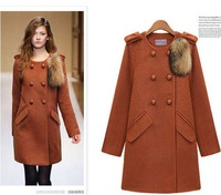free shipping 2013 woolen outerwear slim elegant fashion medium-long wool coat woolen overcoat autumn and winter