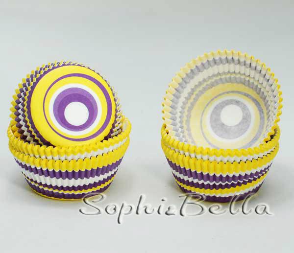 100Pcs B115 Wholesale Fantastic Colorful Swirl Paper Cupcake Liners Baking Cups C(China (Mainland))