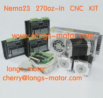 Promition! Nema 23 шагового двигателя 287oz-in 1.0A и водитель DM542A фрезерный станок с чпу плазмы с чпу котроллеру