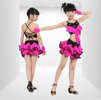 Free shipping .Children Latin dress Children's Day girls performance costume,kids stage dancing dress,2 colours