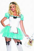 Free shipping ML5032 The Three-pieces Sexy Maid costume(Including headdress,Skirt,Armband)