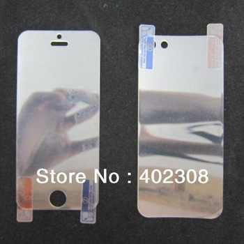 100pcs/lot for iPhone 5 Crystal Clear Screen Protector Film Guard Full Body (50 Front + 50 Back) with retail package