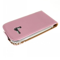 Free shipping 100pcs/lot  PU Leather Up and Down Flip Case Cover For Samsung Galaxy S3 Mini i8190 wholesale