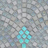 [Mius Art Mosaic] Iridescent white color mix Luminous glass mosaic  &amp; stone mosaic tiles for kitchen backsplash GD007