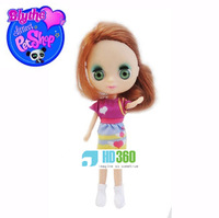 LPS Littlest Pet Shop Blythe Fashion Doll red hair purple cloth style