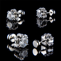 Single large titanium stud earring male stud earring male accessories personalized