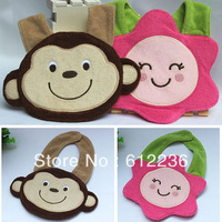 Baby wearing accessories cartoon flower monkey design toweling bib cte pinafore for baby hot sale beautiful design new top