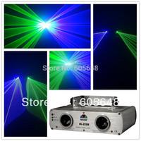 360mW Green & Blue Dual Lens Laser Stage Light Disco DJ Lighting Show BLACK OUT