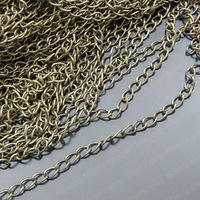 (22084)Metal Jewelry Link Necklace Chains Iron Antique Bronze Chain width:3.2MM Extended chain 5 Meter