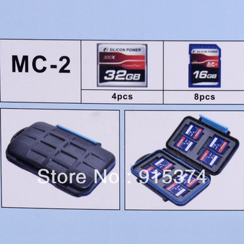 JJC MC-2 Anti-shock Waterproof Extremely Tough Portable Memory Card Case for 4 CF cards 8 SD cards Free shipping
