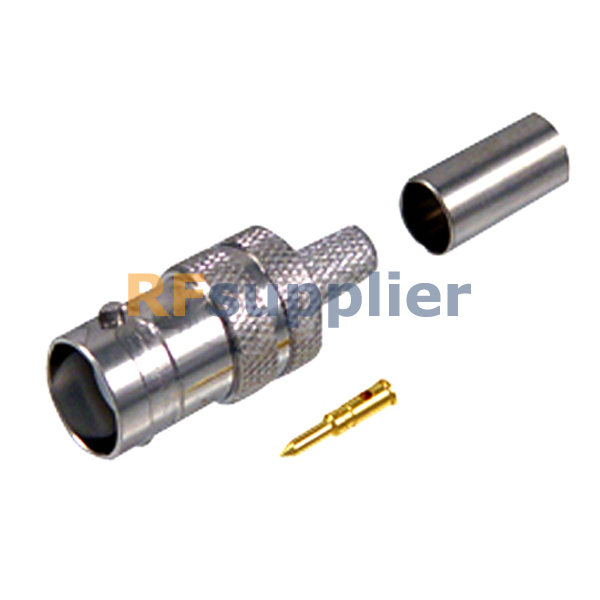 RP-BNC Crimp Jack Male Pin connector for LMR195(China (Mainland))