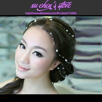 FREE SHIPPING Clusters of stars PEARL CHAIN the BRIDAL HEADDRESS hair ornaments wedding bouquets  bridal accessories