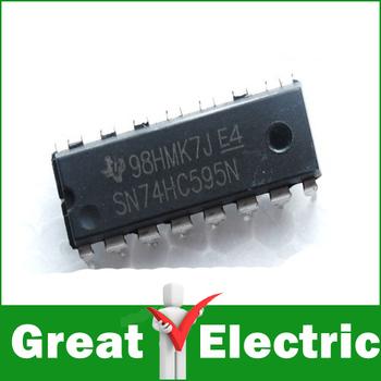 20PC/Lot 8-Bit Shift Register 74HC595 DIP 16 Free Shipping SKU39001