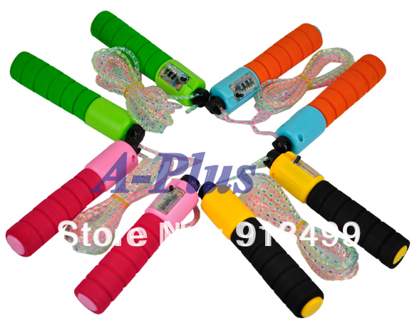 Drop Shipping Fashion Jump Counter Skipping Rope Adjustable Number Fitness Workout Gym 4523(China (Mainland))