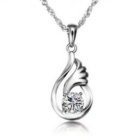 S925 pure silver necklace female short design birthday day gift gentlewomen necklace