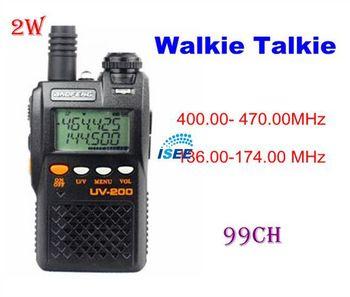 2014 brazil New  Ham Walkie Talkie BaoFeng UV-200 Mark II UHF/VHF & Two Freq. display, Watch dual band radio Free Shipping