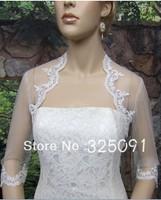 2013 New Wedding Dresses Dress White Wedding Two Layer Beaded Edge Bridal Mantilla Veils for bridal Wedding Party Free Shipping