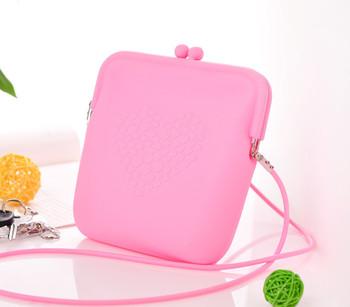 Free shipping  candy color silica gel messenger bag jelly bag women's handbag G1115