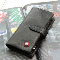 Tough long design cowhide vintage purse genuine leather women's long design lovers wallet