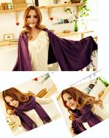 F04466 Fashion Warm Cashmere imitated Scarf warm Monochrome Wraps Shawl Scarves For Women ladies girls + Free ship