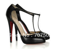 new hot sale brand women's high heels T-bar Shoes party shoes
