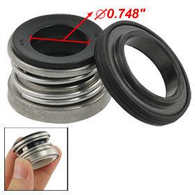 2 Pcs 19mm Single Spring Water Pump Mechanical Shaft Seal 104-19 Free shipping