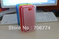 Frosted Matte Soft TPU Case Cover For Samsung GALAXY NOTE 2 II N7100, Mix color+Free shipping+ 50pcs/lot  8 Colors