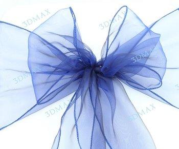 Navy Blue chair sash 100 pcs  22cm x 275cm  Wedding Party Chair Organza Sash Decoration,wedding supply lot of wedding product