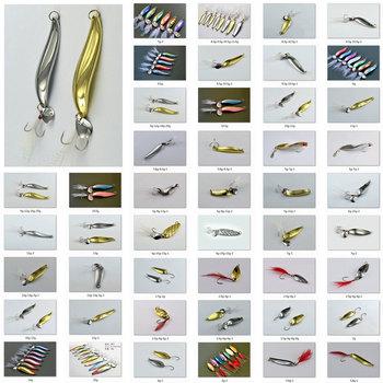 Free, 60pcs/lot, 1.5g,2g,4g,5g,6g,7g,8g,9g,10g,11g,12g,13g,14g,20g,22g, Mustad Hooks Fishing Lure Metal Spoon/Spinner
