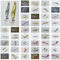 Free shipping, 60pcs/lot, 1.5g,2g,4g,5g,6g,7g,8g,9g,10g,11g,12g,13g,14g,20g,22g, Mustad Hooks Fishing Lure Metal Spoon/Spinner