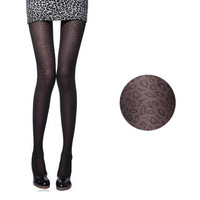 All-match ultra-thin sexy leopard print pantyhose cutout small leopard print stockings pantyhose n028