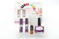 10 sets velvet manicure/ flocking powder kit