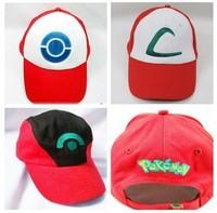 Pokemon Hat Hats Set of 3 Ash Ball Caps Pikachu Baseball Cap Free Shipping