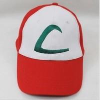 Anime Pokemon Ash Katchum Cosplay Hat Baseball Cap Free Shipping 10/LOT