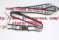 New Lot 120pcs SAN ANTONIO SPURS Football Phone Lanyard Key Chain Neck Strap team lanyard
