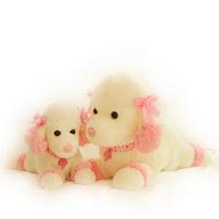 Cartoon yanni dog pink vip dog doll plush toy dog doll