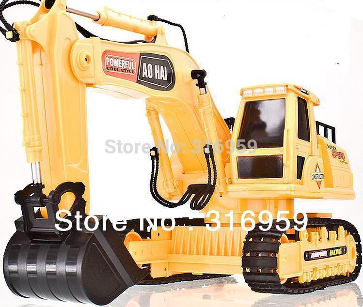 Free Shipping New 8 channel High simulation RC digger,r/c excavator,Dig Function,remote control shovelloader children's toy(China (Mainland))