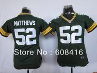 Wholesale American Football Jersey 2013 New Style Green Bay #52 Clay Matthews White/Yellow/Green Football Elite Jersey,Mix Order
