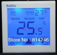 Free  shipping    suittc 8817 / 16WD touch screen digital display warm, electric film temperature controller