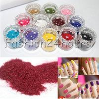 New Arrival Fashion 12 Pots Velvet Soft Flocking Powder 3D Nail Art Tips Decoration DIY Set Free Shipping