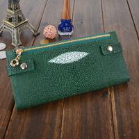 2012 leather long design women's cowhide wallet