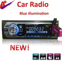 Car MP3 player radop USB of blue illumination new